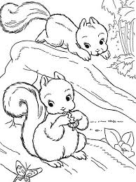 Two Baby Squirrel Coloring Page Download Print Online Coloring