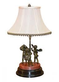 19th century french bronze cherubs lamp