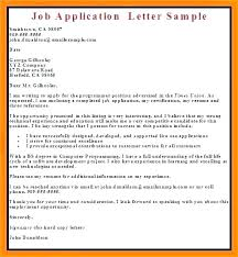 Sample Cover Letter Business Employment Application Letter Sample Application Letter For