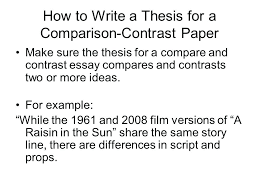 Compare And Contrast Essay Outlines Compare And Contrast Essay Outline 5th Grade Thesis For Places