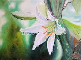 flower paintings handmade livemaster handmade in the morning dew oil