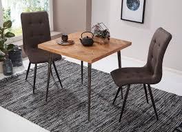 Wohnling Esstisch Lodi Holz Esszimmertisch Massiv Holztisch Tisch Esszimmer 80cm