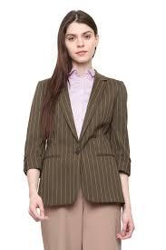 Van Heusen Woman Suits Blazers Van Heusen Brown Blazer For Women At Vanheusenindia Com