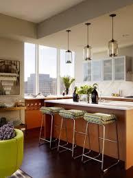 amazing glass pendant lamps over kitchen island