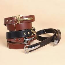 best leather cinch belt front black and brown leather with brass or stainless hardware