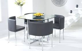 dining room table and chairs alluring grey decor of round glass with small for