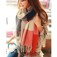 2018 Autumn Winter Female Wool Plaid Scarf Women ... - Vova
