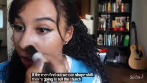 she often makes mentary whenever she does her makeup to cover up the fact that she doesn t know what she s doing