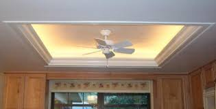 Tray ceiling with rope lighting Inch You Can Eliminate The Fluorescents Put Crown Around The Edge With Recessed Rope Lighting And Call It Tray Ceiling Kitchens Forum Gardenweb Pinterest What To Do With Recessed Light Box Thing You Can Eliminate The