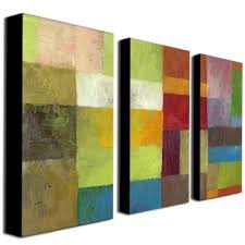 trademark fine art abstract color panels iv by michelle calkins 3 panel wall art set on 3 panel wall art set with trademark fine art abstract color panels iv by michelle calkins 3