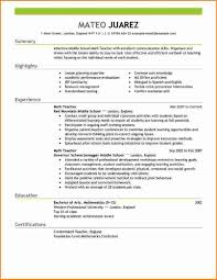 7 Example Of A Teacher Resume Expense Report Template Regarding 85  Fascinating Live Career Resume