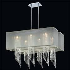 rectangular glass chandelier double shade spiral crystal ocean wave prism