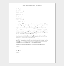 Request Reference Letter Formal Reference Letter Format 6 Sample Letters