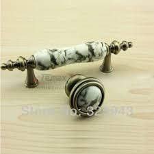 75mm European Marble Bronze Ceramic Knobs And Pulls Dresser Drawer Handles  Kitchen Cabinet Furniture Door Handle