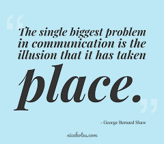 George Bernard Shaw The Single Biggest Problem In Communication Is