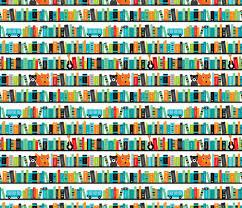 Pattern Book Classy Boys ABC Fox Book Shelf Pattern Fabric Littlesmilemakers Spoonflower