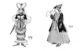 author imagines in 1893 the fashions