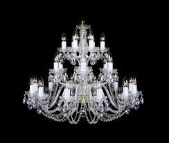 24 lights bohemian crystal chandelier cl108 24