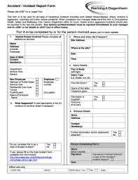 Form For Accident Incident Report Fillable Online Accident Incident Report Form Fax Email Print