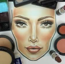 kim kardashian mac face chartskourtney kardashian