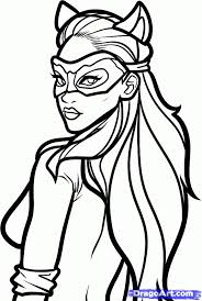 Small Picture Catwoman Beautiful Women Coloring Pages for Adults Pinterest