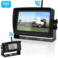 Digital Wireless Backup Camera and 7''Monitor Kit System for RV ...