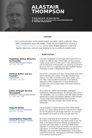 Publisher, Editor, Director, Co Founder Resume samples