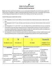 Kristyn Austin Space Exploration Kwl Chart Project 2 Docx