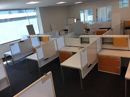 Image Installation Click Cube Solutions Inscape Orange Cubicles 6x6 3202 Bay Bay Office Solutions