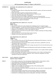 Human Resource Assistant Resume Danetteforda