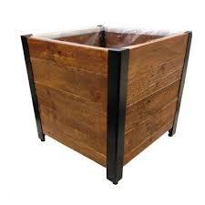 urban garden brown recycled wood planter
