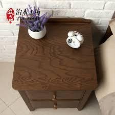 Red Oak Bedroom Furniture Aliexpresscom Buy Pure Solid Wood Bedside Cabinet Minimalist