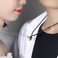 <b>2pcs</b> Couple Necklace Magnet Suction Wishing <b>Stone</b> Creative ...