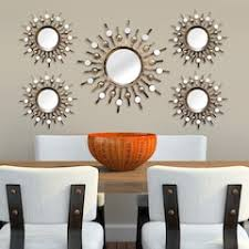 mirror wall art. stratton home decor sunburst mirror metal wall art 5-piece set u
