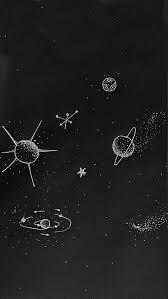 黑色星空星球h5背景 卡通手绘星际星云宇宙 Html素材网