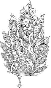 tribal coloring pages. Delighful Tribal Zentangle Peacock Coloring Page Vector Tribal Decorative Peacock Isolated  Bird On Transparent Background Style More For Pages R