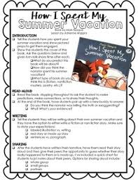 how i spent my summer vacation essay for class essay on summer  hd image of how i spent my summer vacation activity w lesson plan by
