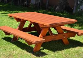 outdoor wooden tables. Modren Outdoor Outdoor Garden Furniture Picnic Tables In Dressed And Oiled Timber Made  From Sleepers To Outdoor Wooden Tables A