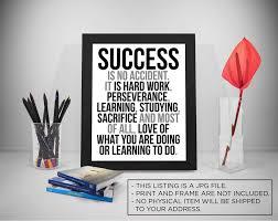 Erfolg Zitate Druckbare Erfolg Ist Kein Zufall Harte Arbeit Etsy