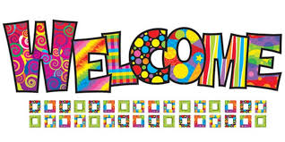 Multicolor Welcome graphic
