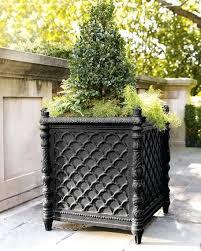 black outdoor planters