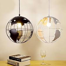 cobo pendant light lamp earth shaped globe industrial modern fixture iron pendant lamp for coffee dinning room kitchen pendant light pendant lights