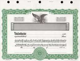 Blank Stock Certificate Template Free - Fast.lunchrock.co