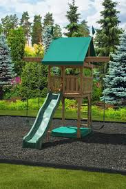 happy space backyard discovery wooden playsets with 2 swings and slider for kids playground ideas