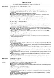 Global Procurement Resume Samples Velvet Jobs