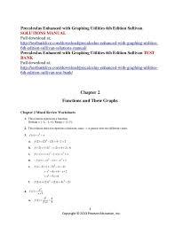 Relations And Functions Worksheet Pre Calculus Antihrap Com