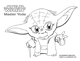Show them the proper way how to color. Star Wars Coloring Page Yoda Vanquish Studio