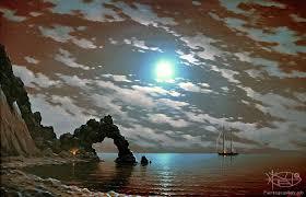adamow alexis moonlit night