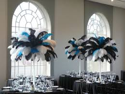 Turquoise And White Wedding Decorations Flower And Event Decor Ostrich Feather Centerpieces January 2012