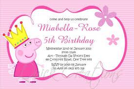 Children Birthday Invitations Childrens Birthday Invitations Princess Peppa Pig Birthday Invitation